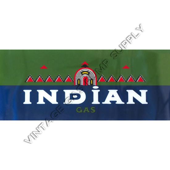 Indian Gasoline Flat Ad Glass