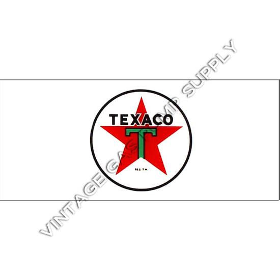 Texaco Star Flat Ad Glass