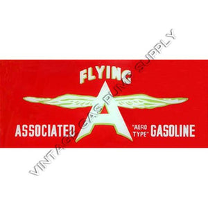 Associated Flying A Flat Ad Glass