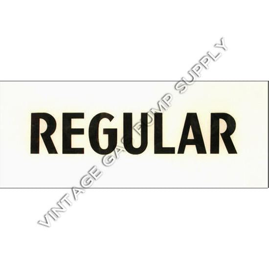 Regular Black Letter Flat Ad Glass