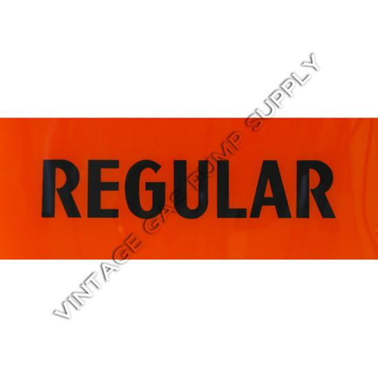 Regular Black/Orange Flat Ad Glass