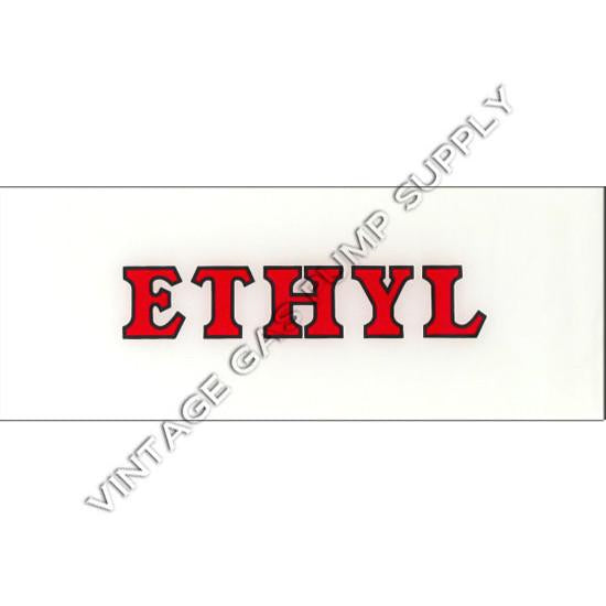 Ethyl Red with Black Outline Flat Ad Glass