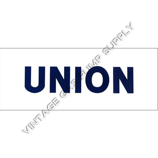 Union Blue Letter Flat Ad Glass