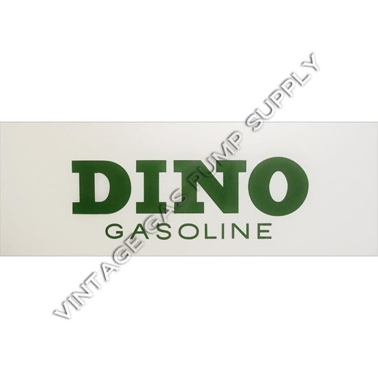 Dino Gasoline Flat Ad Glass