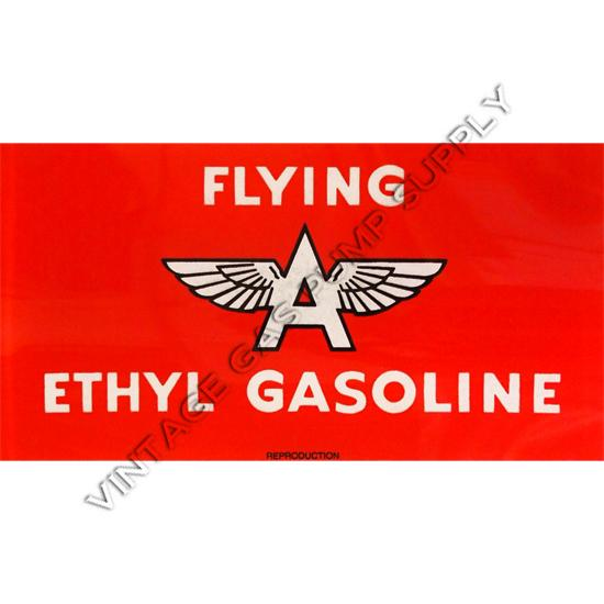 Flying A Ethyl A-62 Ad Glass