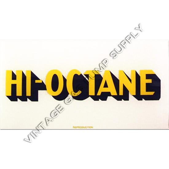 Richfield Hi-Octane A-62 Ad Glass