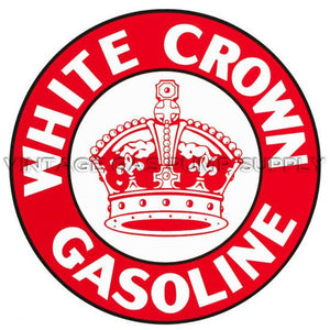 "12"" White Crown Vinyl Decal"