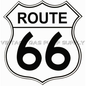 "9"" Route 66 Vinyl Decal"
