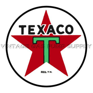 "9"" Texaco Star Vinyl Decal"