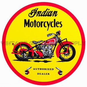 "12"" Indian Motorcycle Vinyl Decal"