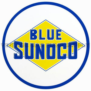 "2"" Blue Sunoco Round Vinyl Decal"