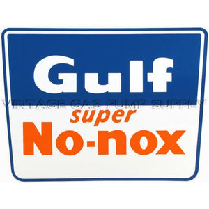 Gulf No Nox Square Vinyl Decal