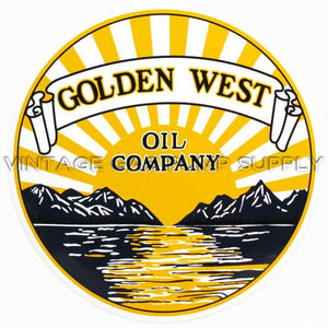 "12"" Golden West Vinyl Decal"