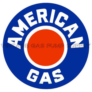 "12"" American Gas Vinyl Decal"