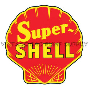 "12"" Super Shell Red Vinyl Decal"