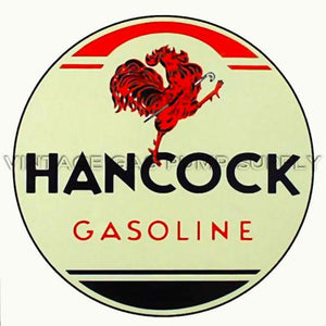 "12"" Hancock Gasoline Water Transfer Decal"