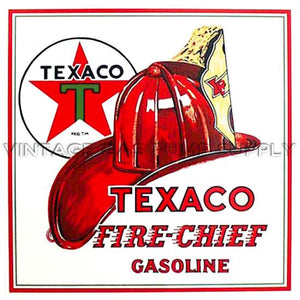 "12"" Texaco Fire Chief Water Transfer Decal"