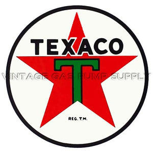 "8"" Texaco Star Water Transfer Decal"