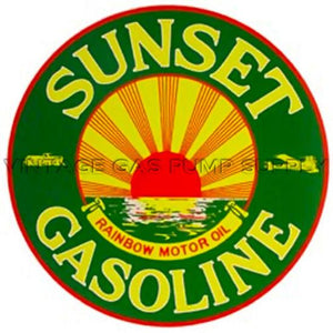 "12"" Sunset Gasoline Water Transfer Decal"