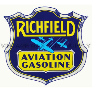"12"" Richfield Aviation Water Transfer Decal"
