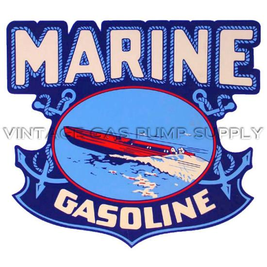 Marine Gasoline Water Transfer Decal