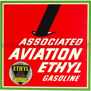 "10"" Associated Aviation Ethyl Water Transfer Decal"