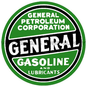 "12"" General Petroleum Water Transfer Decal"