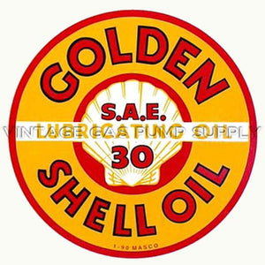 "9"" Golden Shell Water Transfer Decal"