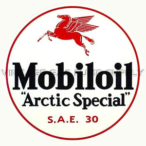 "9"" Mobiloil Water Transfer Decal"