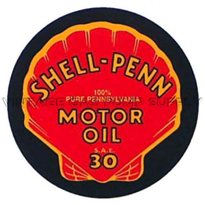 "2"" Shell Penn Water Transfer Decal"