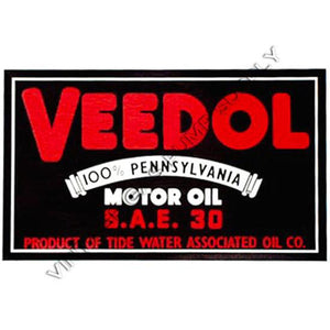 "8"" Veedol Water Transfer Decal"
