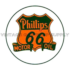 "2"" Phillips 66 Motor Oil Water Transfer Decal"