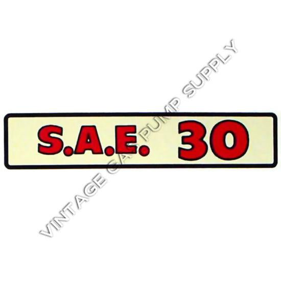 S.A.E. 30 Water Transfer Decal