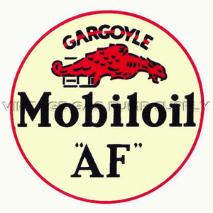 "9"" Mobiloil Gargoyle Water Transfer Decal"