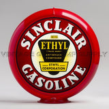 "Sinclair Ethyl 13.5"" Gas Pump Globe with Red Plastic Body"