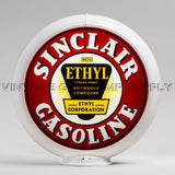 "Sinclair Ethyl 13.5"" Gas Pump Globe with White Plastic Body"