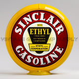 "Sinclair Ethyl 13.5"" Gas Pump Globe with Yellow Plastic Body"