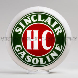 "Sinclair H-C 13.5"" Gas Pump Globe with White Plastic Body"