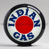 "Indian ""Bullseye"" 13.5"" Gas Pump Globe with Black Plastic Body"