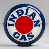 "Indian ""Bullseye"" 13.5"" Gas Pump Globe with Dark Blue Plastic Body"