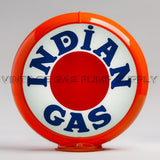 "Indian ""Bullseye"" 13.5"" Gas Pump Globe with Orange Plastic Body"