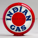 "Indian ""Bullseye"" 13.5"" Gas Pump Globe with Red Plastic Body"
