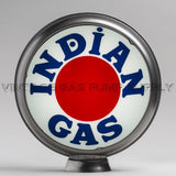 "Indian ""Bullseye"" 13.5"" Gas Pump Globe with Steel Body"