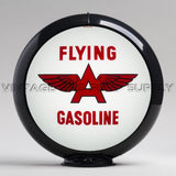"Flying A (White) 13.5"" Gas Pump Globe with Black Plastic Body"