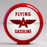"Flying A (White) 13.5"" Gas Pump Globe with Red Plastic Body"