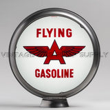 "Flying A (White) 13.5"" Gas Pump Globe with Steel Body"