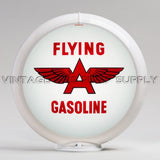 "Flying A (White) 13.5"" Gas Pump Globe with White Plastic Body"