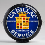 "Cadillac Service 13.5"" Gas Pump Globe with Black Plastic Body"