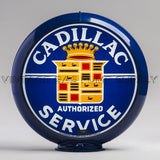 "Cadillac Service 13.5"" Gas Pump Globe with Dark Blue Plastic Body"