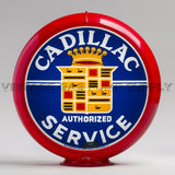 "Cadillac Service 13.5"" Gas Pump Globe with Red Plastic Body"